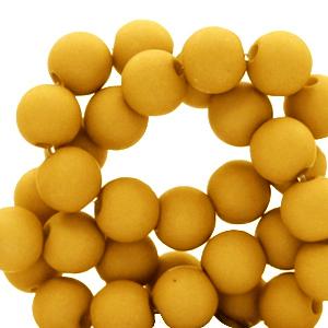 Acryl kralen 6mm bright golden yellow