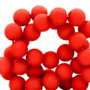 Acryl kralen 6mm flame scarlet red