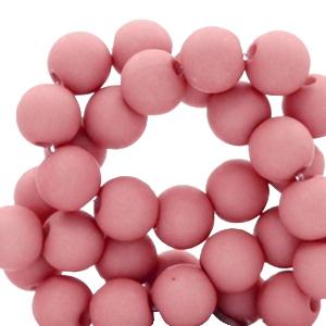 Acryl kralen 6mm lantana pink