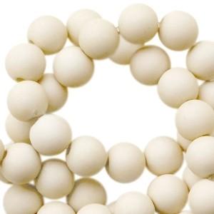 Acryl kralen 6mm olive beige