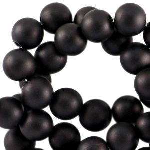 Acryl kralen 6mm zwart