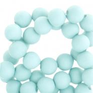 Acryl kralen 8mm matt bleached aqua blue
