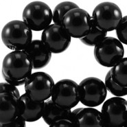 Glasparels 4mm zwart