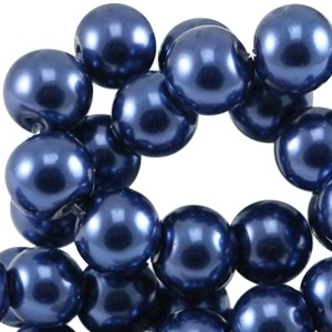 Glasparels 6mm donkerblauw