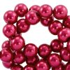 Glasparels 8mm ruby wine red