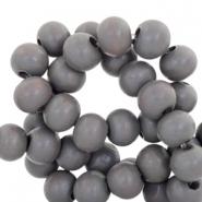 Houten kralen 6mm antracite grey