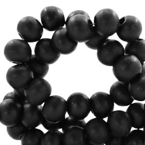 Houten kralen 6mm black