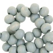 Houten kralen 6mm greenish nature grey
