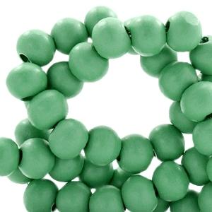 Houten kralen 6mm winter green