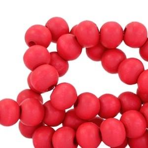 Houten kralen 8mm dark red coral