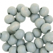 Houten kralen 8mm greenish nature grey