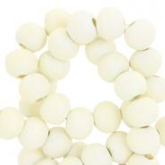 Houten kralen 8mm ivory beige