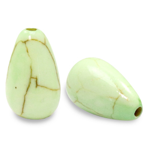 Keramiek kraal druppel paradise green