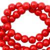 Keramiek kralen 6mm haute red