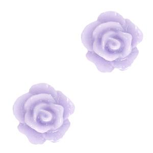 Kraal roosje lila grey
