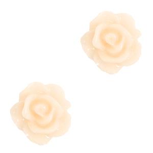 Kraal roosje papyrus white