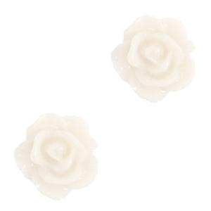 Kraal roosje vanilla ice white