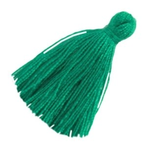 Kwastje 20mm esmerald green