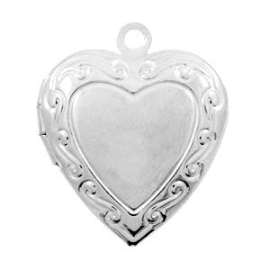 Medaillon hart zilver