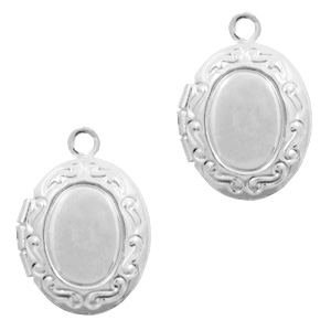 Medaillon ovaal klein zilver