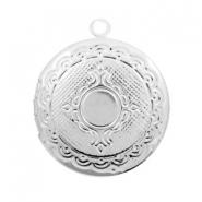 Medaillon rond zilver