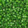 Miyuki delica's lined luster pea green
