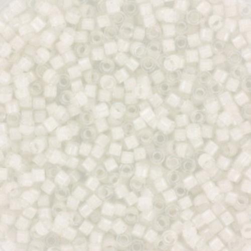 Miyuki delica's white lined crystal