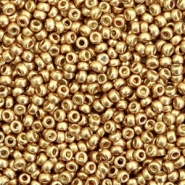 Miyuki rocailles 11/0 duracoat galvanized champagne gold