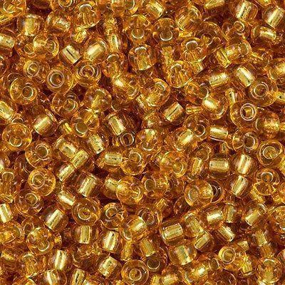 Miyuki rocailles silverlined dark gold