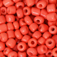 Rocailles 4mm neon coral orange