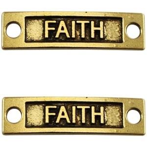 Tussenstuk faith antiek goud