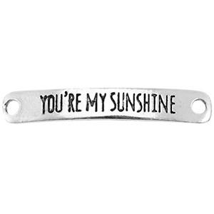 Tussenstuk you're my sunshine zilver