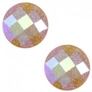 10mm cabochon donker topzaz glitter