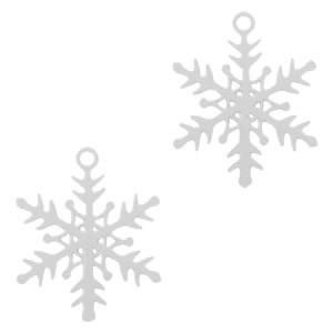 Bohemian hanger snowflake zilver