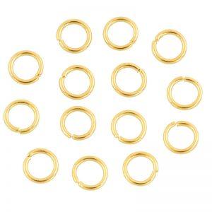Buigring 6mm goud