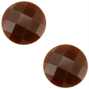 Cabochon 10mm donkerbruin