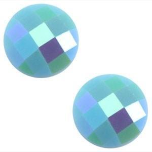 Cabochon 10mm lichtblauw diamant