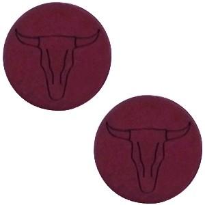 Cabochon 12mm buffel aubergine