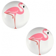 Cabochon 12mm flamingo light grey
