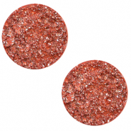 Cabochon 12mm goldstein tigerlily coral pink