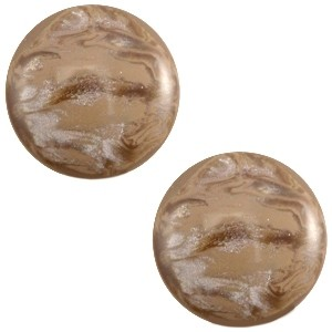 Cabochon 12mm jais woodmoke brown