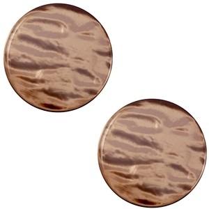 Cabochon 12mm parelmoer soft major brown