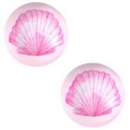 Cabochon 12mm shell pink