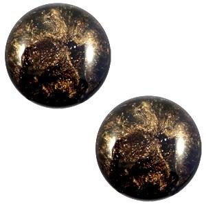 Cabochon 12mm stardust dark brown