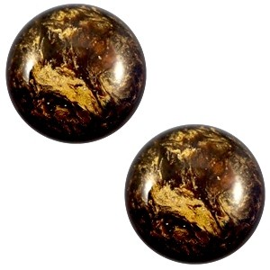 Cabochon 12mm stardust dark smoke topaz