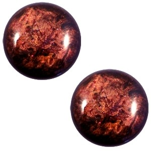 Cabochon 12mm stardust port royale red