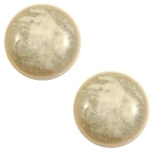 Cabochon 12mm stardust sand beige