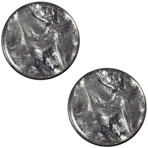 Cabochon 20mm jais anthracite grey