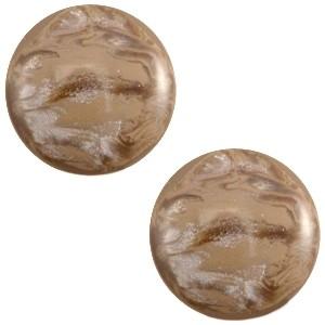Cabochon 20mm jais woodsmoke brown