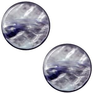 Cabochon 20mm parelmoer montana blue